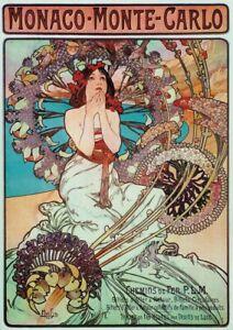 Alphonse Mucha - Large A2 size 42x59.4cm QUALITY Canvas Print Poster Unframed