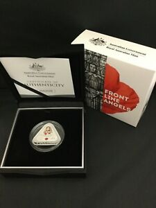 2017 FRONT LINE ANGELS Triangular Silver proof $5 coin