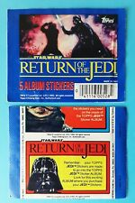 1983 Topps  Star Wars Return of the Jedi Sticker Pack - pochette bustina tüte V3