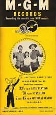 MGM RECORD CATALOGUE SUPPLEMENT 65 september 1954 the rose marie stars