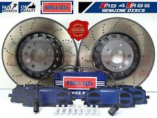 FOR AUDI RS4 B9 RS5 F53 FRONT FLOATING DRILLED BRAKE DISCS + PADS SENSOR WIRE