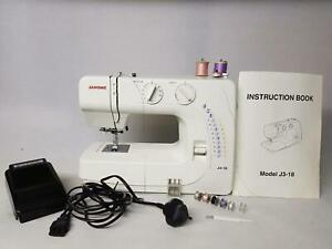 JANOME MODEL J3-18 SEWING MACHINE ELECTRIC WITH PEDAL & INSTRUCTION BOOK CRAFT