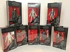 8 STAR WARS ACTION FIGURES BLACK SERIES BY HASBRO AS A COLLECTORS CASE