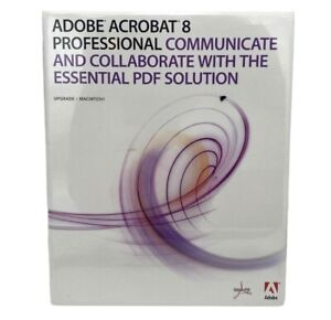 Adobe Acrobat 8 Professional UPGRADE For MAC New In Sealed Retail Package