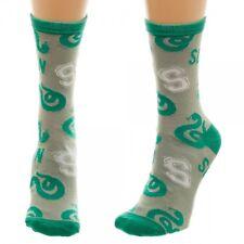 Slytherin Harry Potter House Logo Jr Junior Crew Socks Womens New by Bioworld