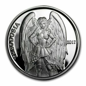 Theodosia Angels & Demons Steampunk Collection 1 oz .999 Fine Silver Proof 2017