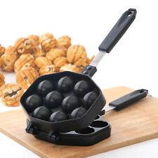 Kitchen Taiyaki Walnut Cake Pan Snack Maker Home Cooking Baker Die Cast Round