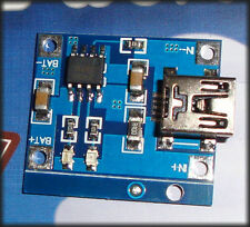 Li Ion charger PCB, TP4056 mini USB lithium battery charger
