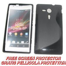 Pellicola+Custodia cover case WAVE NERA per Sony Xperia SP M35h C5302