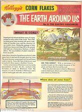#T78.  1957-58  KELLOGG'S CORN FLAKES THE WORLD AROUND US  BACK PANEL #8