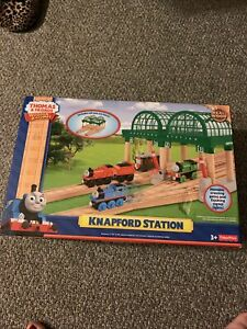 Brand New. Thomas &Friends Wooden Railway Train Knapford Station!
