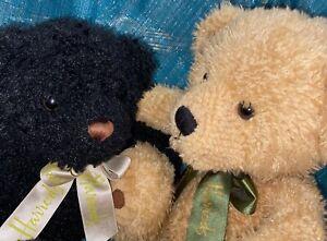 2 X HARRODS BEAR PLUSH COLLECTABLES