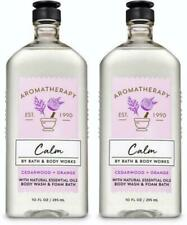 Bath & Body Works Aromatherapy CALM CEDARWOOD + ORANGE Body Wash 10 oz x 2