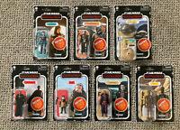 Star Wars Mandalorian Retro Collection 3.75 Hasbro 7 Figure Set-NIB VHTF In Hand