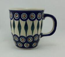 Bunzlauer Keramik Tasse MARS - Becher - blau/weiß/grün - 0,3 Liter, (K081-54)