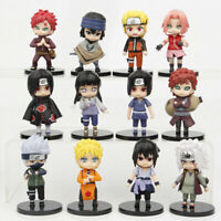 Naruto Kakashi Sakura Sasuke 12 PCS Anime Action Figures Collection Kids Toy