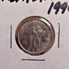 CIRCULATED 1990 10 SEN MALAYSIA COIN (82416)2