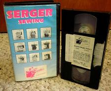SERGER SEWING instructional VHS Kathy Ruddy flatlock stitch hemming