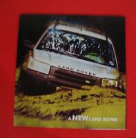 2002 LAND ROVER  FREELANDER TRUCK SHOWROOM SALES BROCHURE...4 PAGE FOLDOUT STYLE