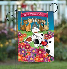 Toland Photobomb Dog 12.5 x 18 Funny Kitty Cat Photo Dog Flower Garden Flag
