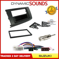 Single DIN or Double Black Fascia Facia Fitting Kit For Suzuki SWIFT 2005-2010
