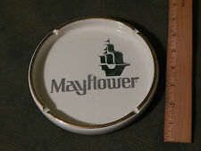 "Mayflower Transit Co. ""World Wide Moving"" [Ceramic] Gold Rim ASHTRAY [Vtg_Ltd]"