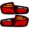 LED 3D Lightbar Heck Rückleuchten Set für BMW 3er F30 Limousine rot klar chrom