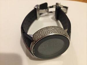 Gucci Johnny Dang 2.5 Carat Diamond Stainless Steel w/ Black Rubber Strap Watch