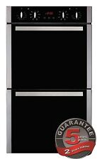 CDA DK1151SS 8 Function Integrated Built in Double Tower Oven in Black