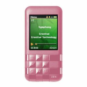 Creative ZEN Mozaic EZ300 Pink 2 GB MP3 Player FM Rad Voice Rec Built-In Speaker