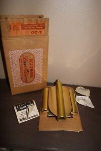 """NuTone """"Mt Vernon"""" L-20 Brass DOOR CHIME...Mid-Century Modern NOS"""