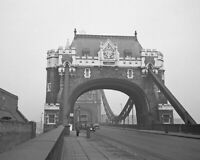 1940's England LONDON TOWER BRIDGE Glossy 8x10 Photo Print Poster United Kingdom