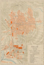 'Keijo'. Seoul antique town city plan. South Korea 1913 old map chart