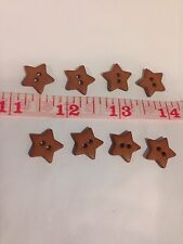 8 Dill Stars Brown Color Buttons Wholesale Pricing