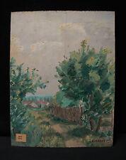 Ancienne peinture huile/panneau de bois, fauvisme années 30 signée