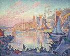 The Port Of Saint Tropez Paul Signac Cityscape Yachts Print CANVAS Painting 8x10