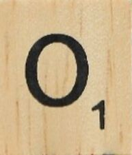 INDIVIDUAL WOOD SCRABBLE TILES! 8 FOR $2, THEN 25 CENTS PER TILE. LETTER O