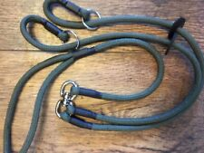 DOUBLE BRAIDED STRONG. HANDMADE DOUBLE DOG LEAD 8 MM SOFT WITH SWIVEL