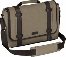 "TARGUS 13.3"" CITY FUSION MESSENGER LAPTOP BAG - TAN - TBM06301AU ,DURABLE CANVAS"