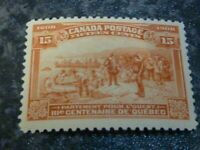 CANADA POSTAGE STAMP SG194 15C 1908 BROWN ORANGE VERY LIGHTLY-MOUNTED MINT