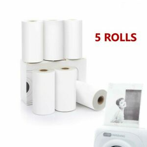 Thermal Printer Sticker Paper for Phomemo Portable Bluetooth Printer 5 ROLLS
