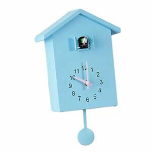 Bedroom Plastic Wall Alarm Clock Cuckoo Shaped Mute Sweeping Adjustable Volume