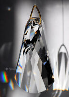Swirl SunCatcher Wave Cut 50mm Austrian Crystal Clear Prism 2""