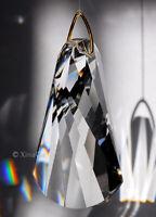 "Swirl SunCatcher Wave Cut 50mm Austrian Crystal Clear Prism 2"""