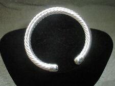 Silver Plated Bangle No Stone Bracelets for Men