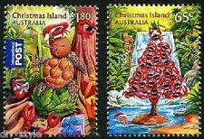 Christmas 2015 set of 2 mnh stamps Christmas Island red crabs