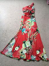 Ladies Long One Shoulder Summer Dress Size M