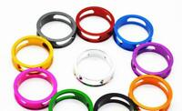 HEADSET SPACERS 1 1/8 BICYCLE BIKE CNC 4g 10mm SUPER LIGHT ALLOY FIXIE ROAD MTB