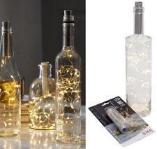 10er 15er 20er LED Flaschenbeleuchtung Korken Lichterkette Batteriebetrieb