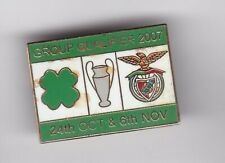 Celtic v Benfica ( CL 2007 )  - lapel badge No.2 brooch fitting